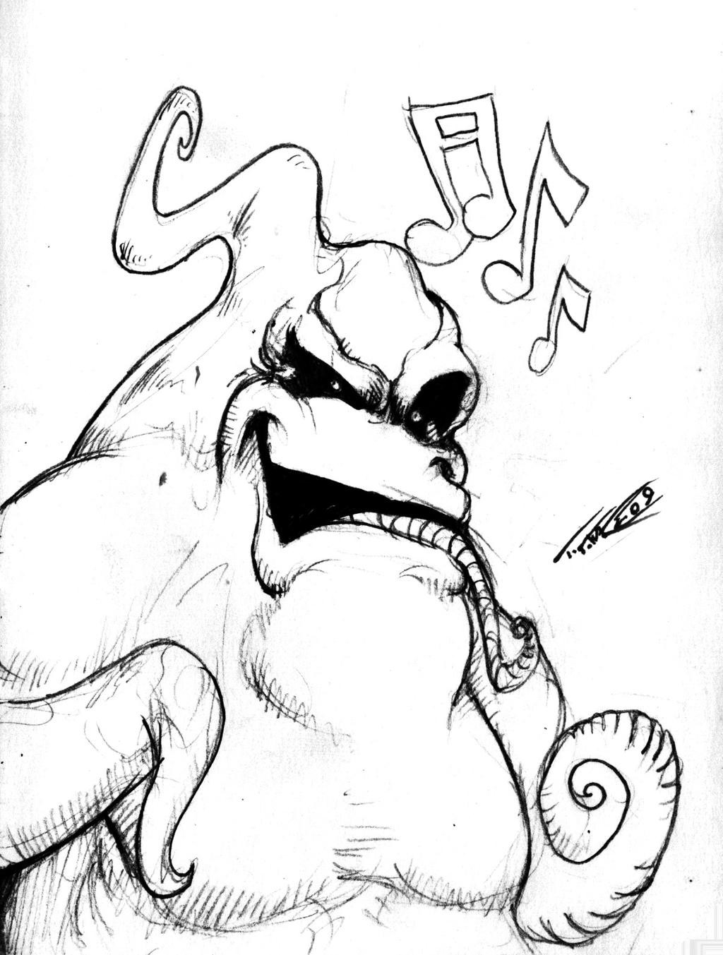 Oogie Boogie Nightmare Before Christmas Coloring Pages Nightmare Before Coloring Pages Oogie Boogie