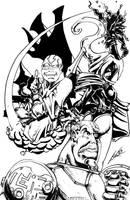 Avatar plus Teen titans by MrTuke