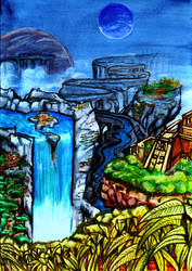 Floating worlds by MrTuke
