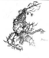 Motorhead Snaggletooth sketch by MrTuke