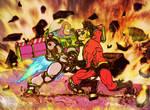 Buzz Lightyear vs Mr Incredible