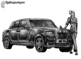 DP: Kei and Rolls Royce WIP by MrTuke