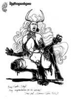 Lady Demon Ink Commission by MrTuke