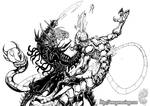 OLDIE: Ryuken slays a Youkai by MrTuke