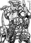 Prehistoric Heroes - Inks by MrTuke
