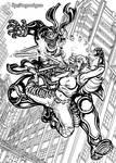 Rooftop Battle - Shiki Logan vs Dr Chimera by MrTuke