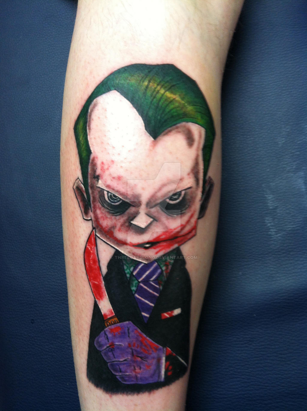 Joker tattoo by threedayslong on deviantart for The joker tattoo