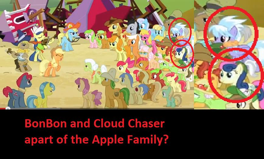 Apple Family BonBon and Cloudchaser...