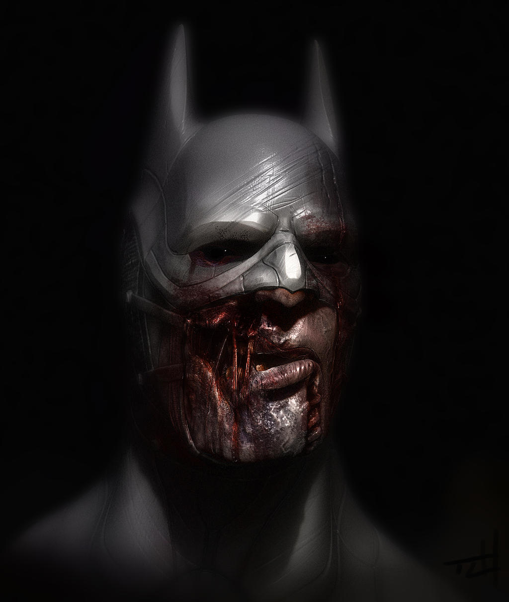 Zombie Batman by TLishman