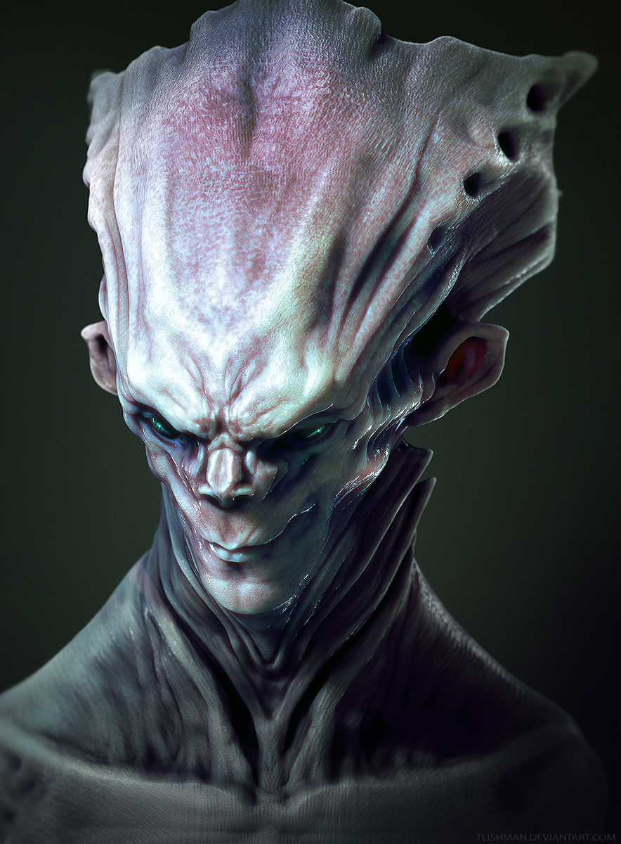 Headpiece Alien by TLishman