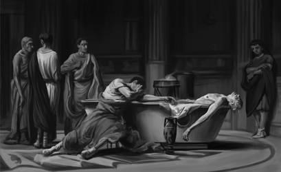 Senecas death - digital painting masterstudy by Ninorabbi