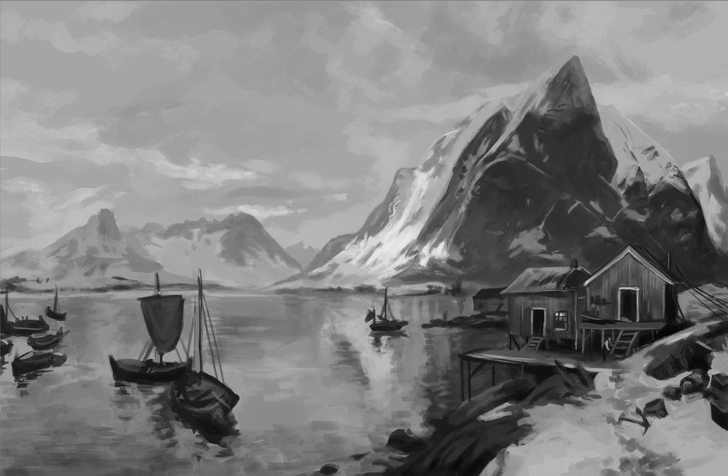 Landscape painting study by Ninorabbi