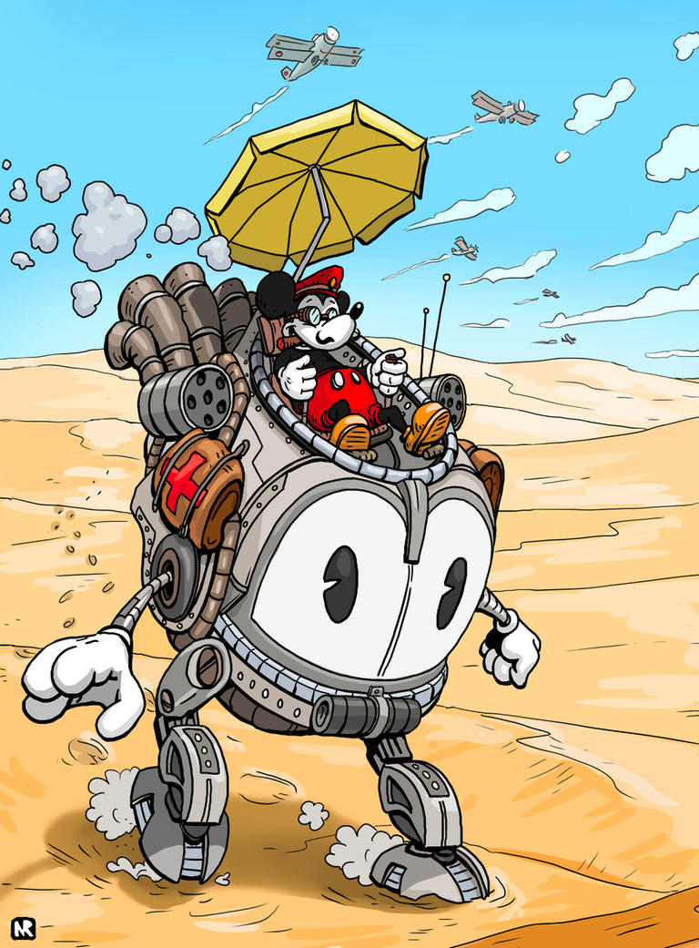 Mickey mouse redesign - escape through the desert by Ninorabbi