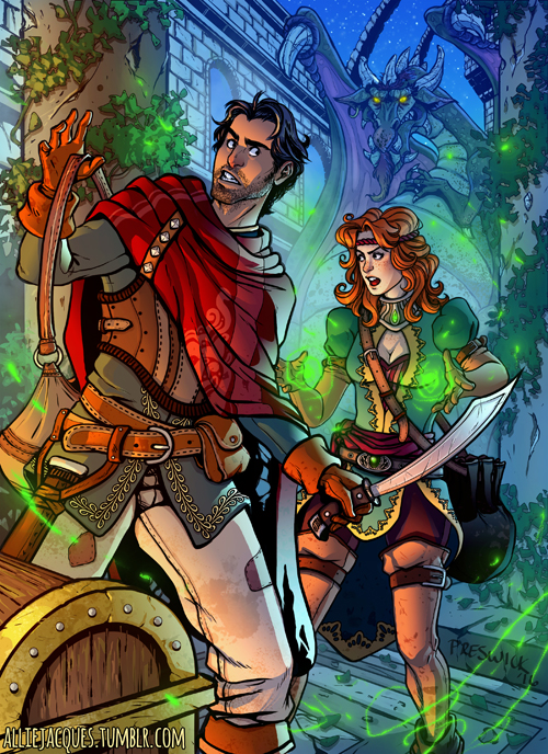 Dragon Thieves Coloured by AllieJacques
