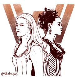 Westworld: Dolores and Maeve