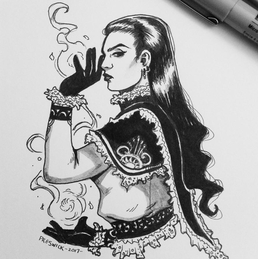 Inktober day 1 by AllieJacques