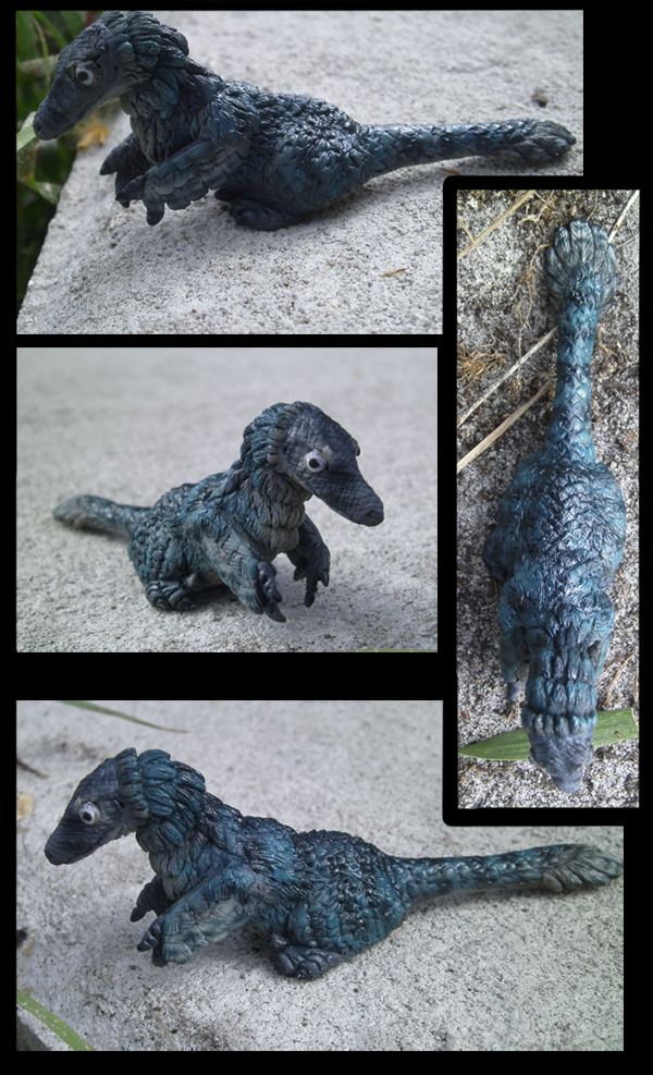 Mini Raptor Sculpture by Book-Rat