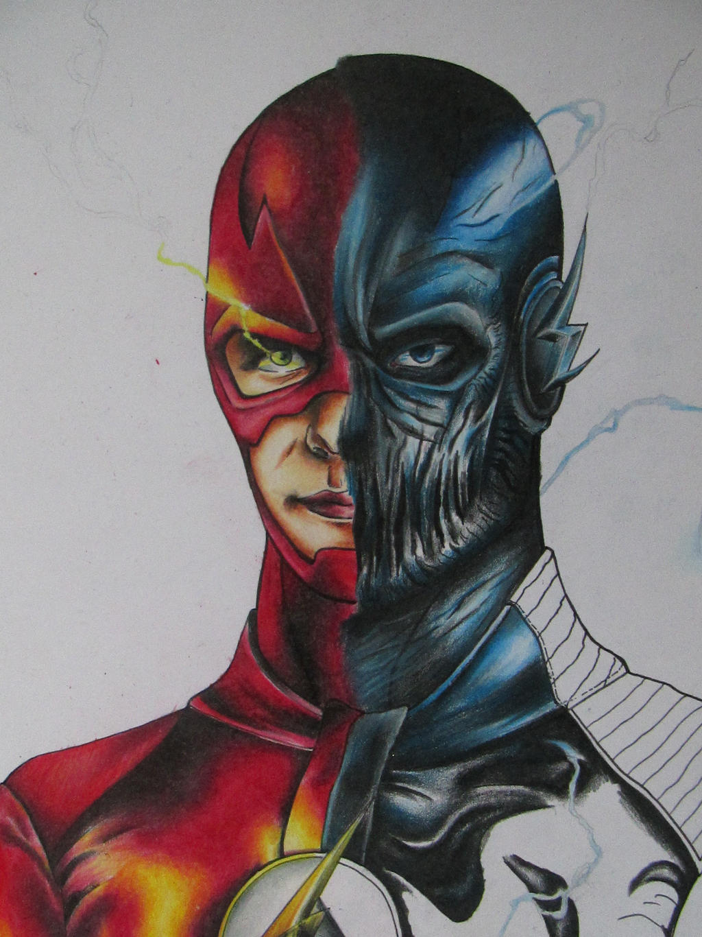 Wip The Flash Vs Zoom By Moonsnake12 On Deviantart