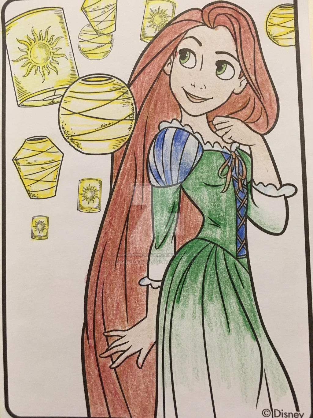 Disney Princess Coloring - Red haired Rapunzel by ...