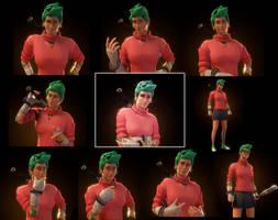 Green Bouncer (Alessa) by MrFestive1