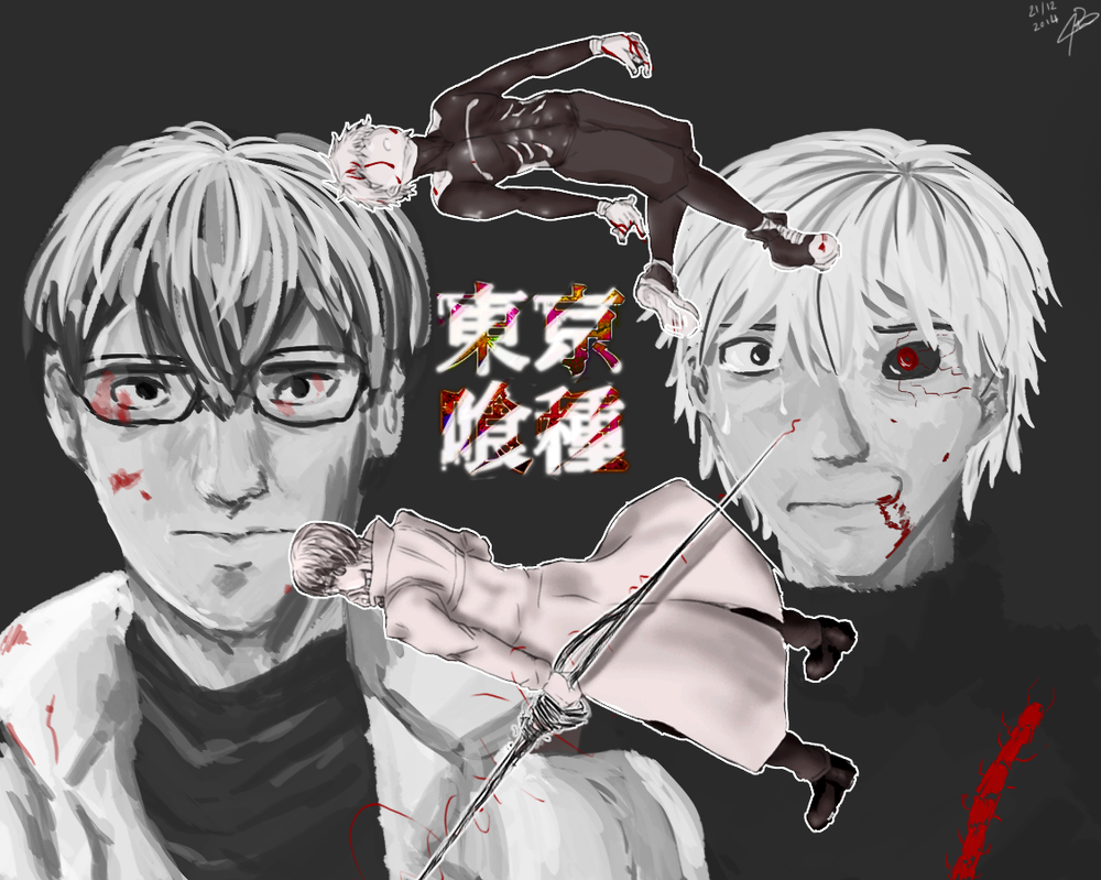 TG. Arima and Kaneki by Liloo-1412