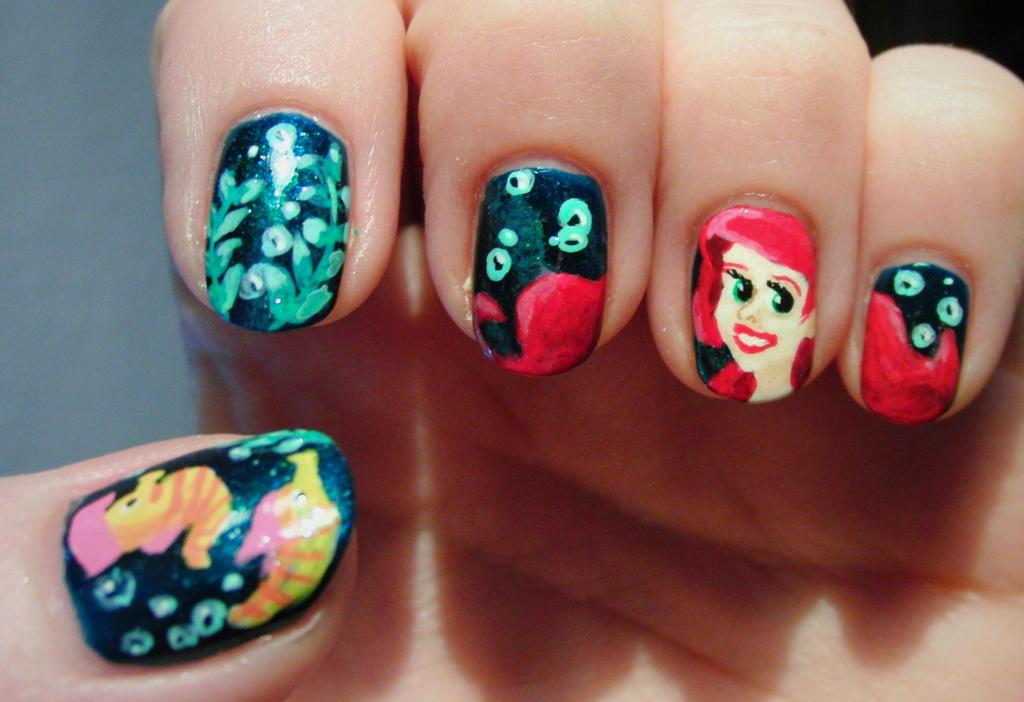 Little Mermaid Nail Designs : Little mermaid nails by lyralein on deviantart