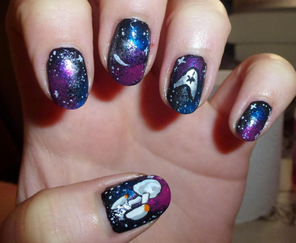 Star Trek Nails by Lyralein on DeviantArt