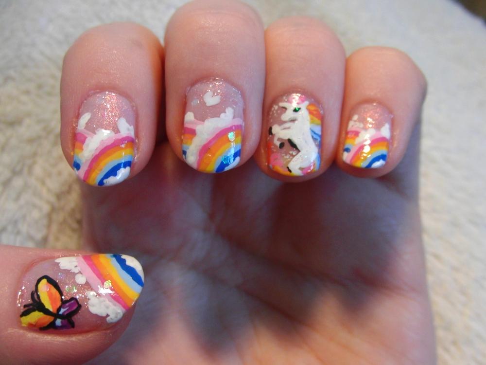 Unicorn Rainbow Nails By Lyralein