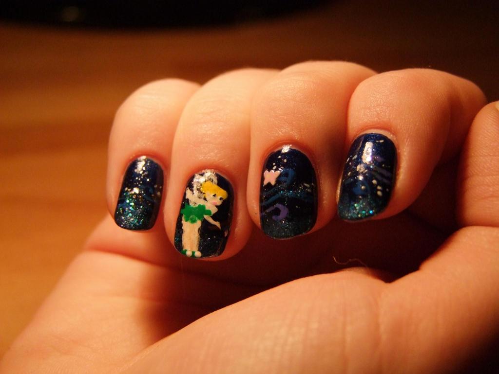 Tinkerbell nail art by lyralein on deviantart tinkerbell nail art by lyralein prinsesfo Images