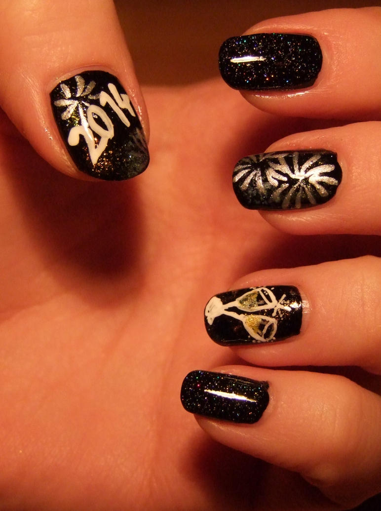 New Year\'s Eve Nail Art by Lyralein on DeviantArt