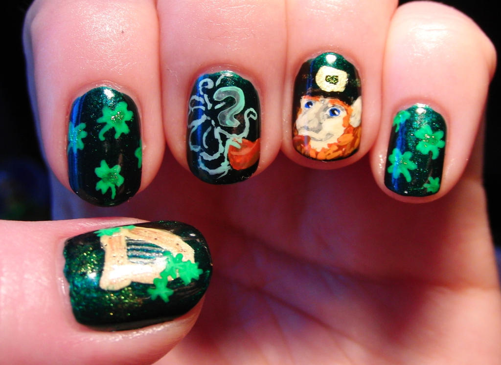 St. Patrick\'s Day Nail Art by Lyralein on DeviantArt