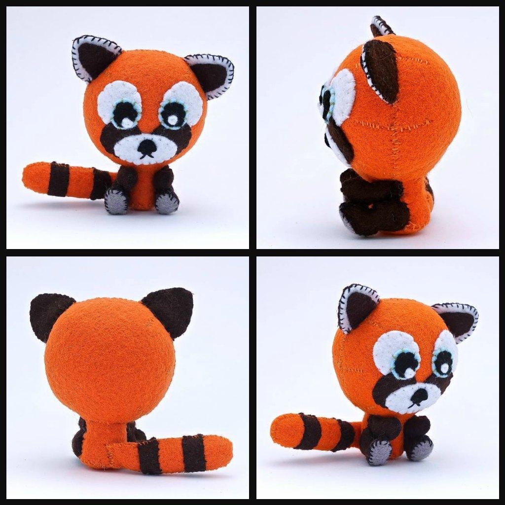 Felt Red Panda Chibi by EllaRobinson