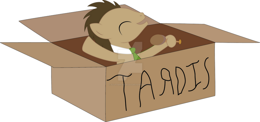 Doctor whooves (fiily in a box) by flutterfanUKOFE