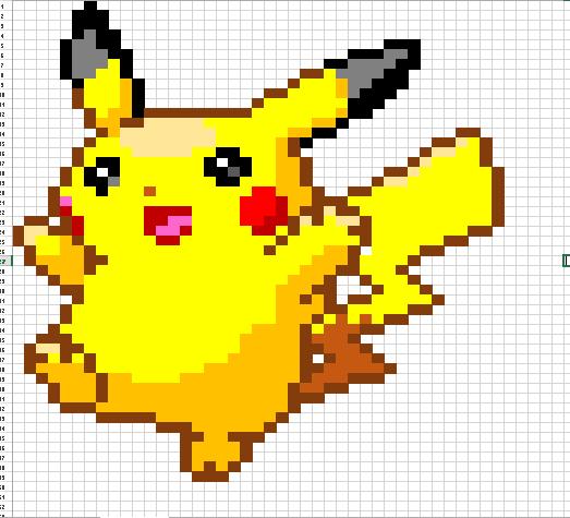 Pikachu Excel Art by Kross-Scarlet on DeviantArt