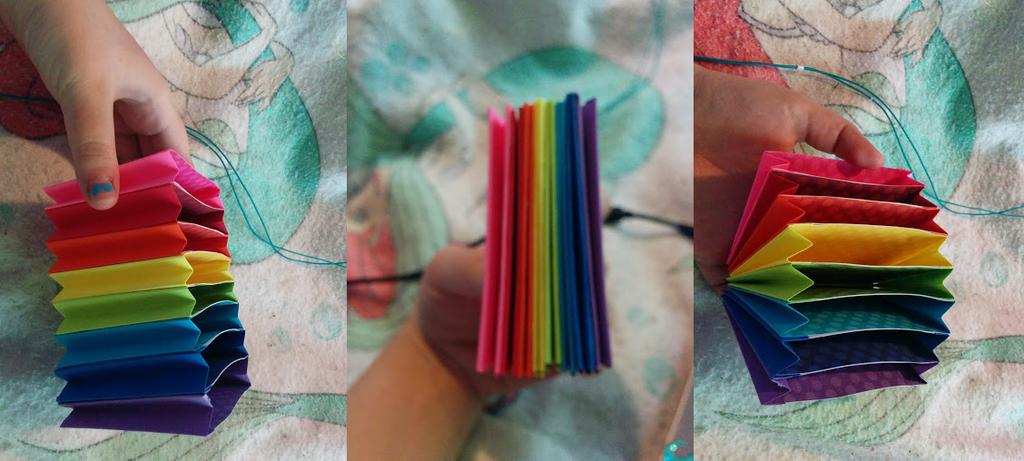 Rainbow Accordion Folder by mermaidella