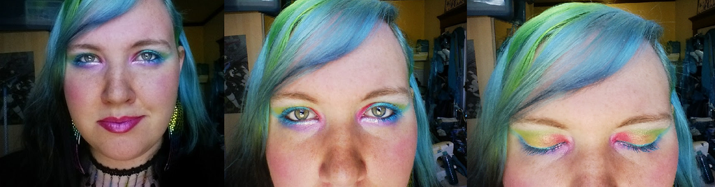 Rainbow Makeup by mermaidella