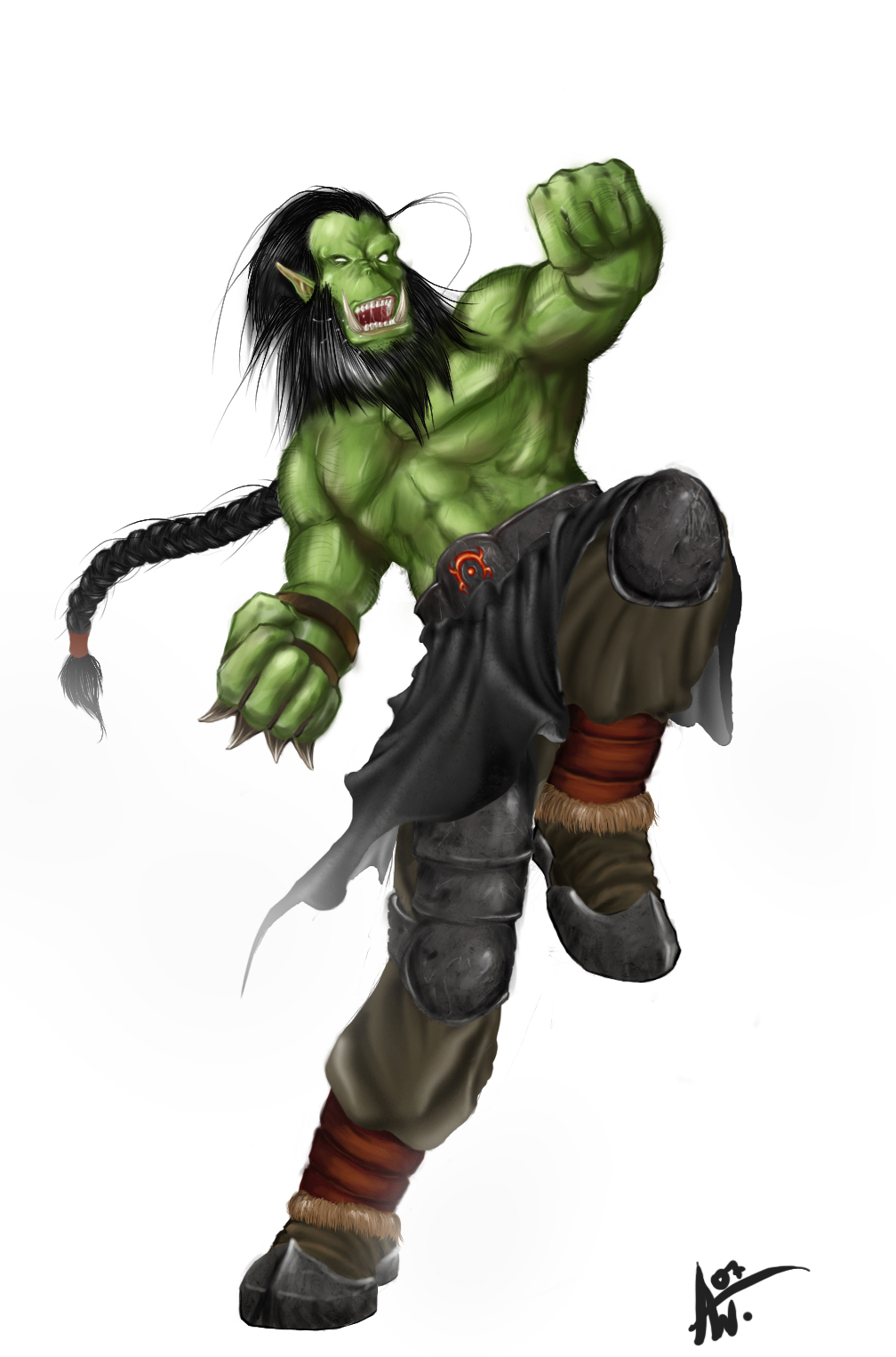 Warcraft Orc Warrior By Adrian W On Deviantart