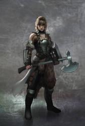 Nordic-Warrior-sketch by Adrian-W