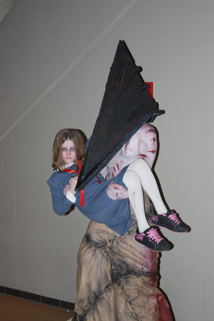 Pyramid Head and Alessa by AshGroovy