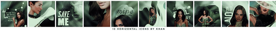 Horizontal Icons