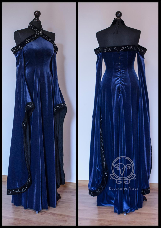 Medieval Fantasy dress by Dolores-de-Ville