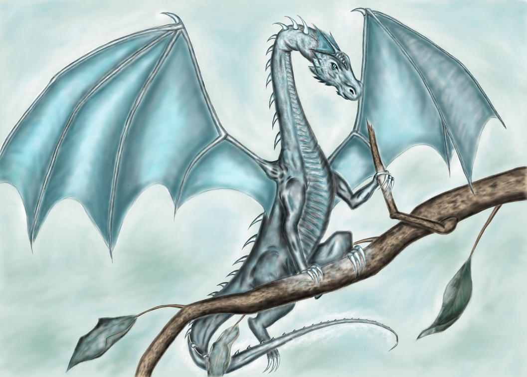 how to draw a dragon breathing ice