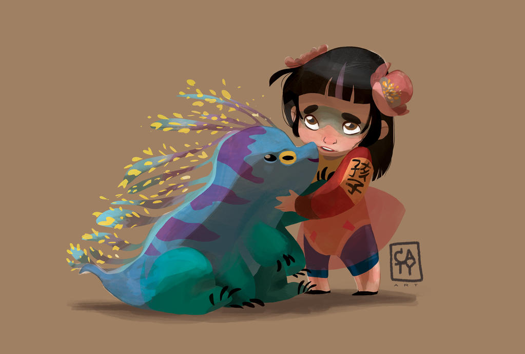 Mum, can I keep this kaiju? by CaterinaFrata