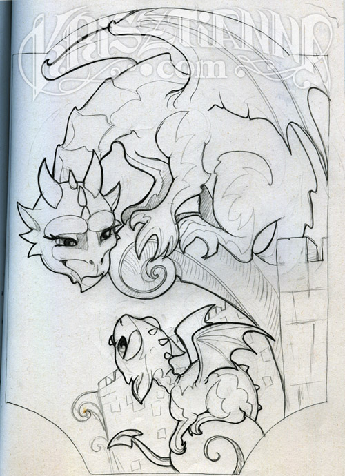 printable coloring pages of gargoyles - photo#30
