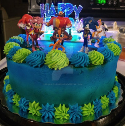 My Sonic Themed B Day Cake By Willow T Hedgehog On Deviantart