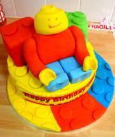 Giant Lego Man Cake by cakesbylorna
