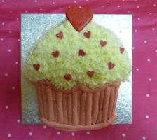 Tiny Cupcake Cake LOL by cakesbylorna