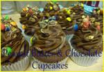 Peanut m and m cupcakes