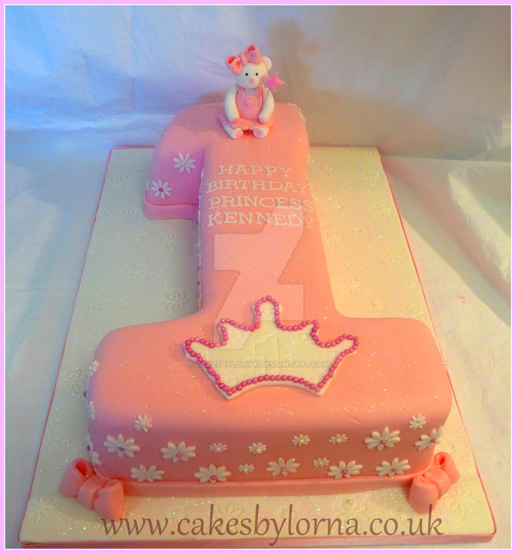 Number One Shaped Birthday Cake