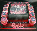 Black Veil Brides Cake and Cupcakes